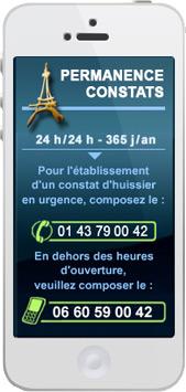 Constat urgent par Huissier de Justice à Paris - Permanence constat 24h/24 7j/7 365 jours/an, la nuit, le week-end, le dimanche et jour férié